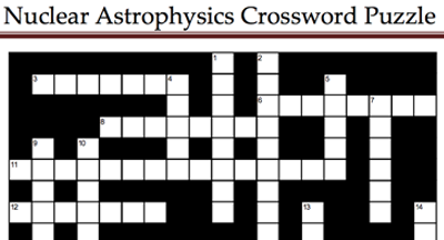 Nuclear Crossword Puzzle