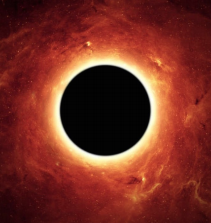 Artist view of a failed supernova resulting in the formation of a black hole.