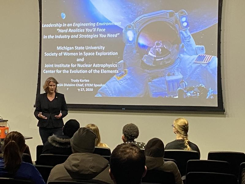 NASA's Trudy Kortes delivers talk on leadership in STEM at MSU
